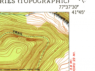 Reduced fragment of topographic map en--usgs--024k--016682--(1949)--N041-45-00_W077-45-00--N041-37-30_W077-37-30; towns and cities Galeton