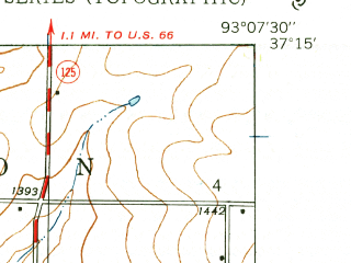 Reduced fragment of topographic map en--usgs--024k--016718--(1937)--N037-15-00_W093-15-00--N037-07-30_W093-07-30