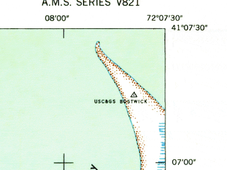 Reduced fragment of topographic map en--usgs--024k--016824--(1944)--N041-07-30_W072-15-00--N041-00-00_W072-07-30; towns and cities Northwest Harbor, Springs