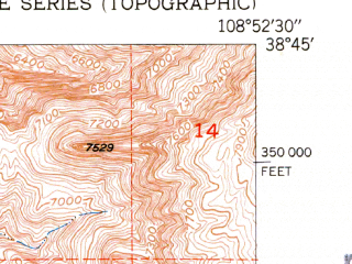 Reduced fragment of topographic map en--usgs--024k--016968--(1952)--N038-45-00_W109-00-00--N038-37-30_W108-52-30