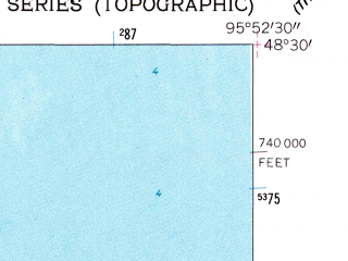 Reduced fragment of topographic map en--usgs--024k--016977--(1962)--N048-30-00_W096-00-00--N048-22-30_W095-52-30