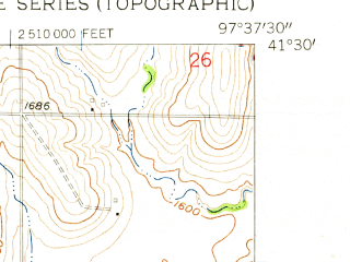 Reduced fragment of topographic map en--usgs--024k--017055--(1958)--N041-30-00_W097-45-00--N041-22-30_W097-37-30; towns and cities Genoa
