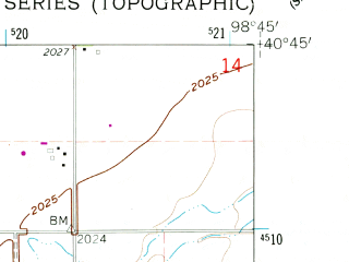 Reduced fragment of topographic map en--usgs--024k--017162--(1962)--N040-45-00_W098-52-30--N040-37-30_W098-45-00; towns and cities Gibbon