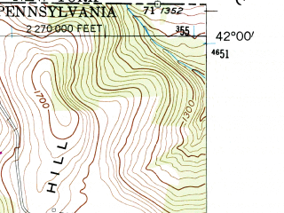 Reduced fragment of topographic map en--usgs--024k--017236--(1954)--N042-00-00_W076-52-30--N041-52-30_W076-45-00