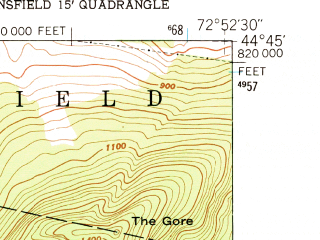 Reduced fragment of topographic map en--usgs--024k--017287--(1948)--N044-45-00_W073-00-00--N044-37-30_W072-52-30; towns and cities Cambridge