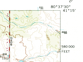 Reduced fragment of topographic map en--usgs--024k--017308--(1962)--N041-15-00_W080-45-00--N041-07-30_W080-37-30; towns and cities Girard, Churchill, Mcdonald