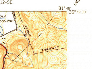 Reduced fragment of topographic map en--usgs--024k--017341--(1939)--N036-52-30_W081-52-30--N036-45-00_W081-45-00; towns and cities Glade Spring