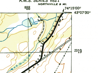 Reduced fragment of topographic map en--usgs--024k--017522--(1946)--N043-07-30_W074-22-30--N043-00-00_W074-15-00; towns and cities Gloversville, Johnstown, Mayfield