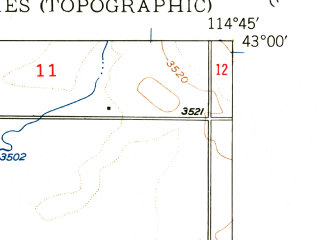 Reduced fragment of topographic map en--usgs--024k--017707--(1949)--N043-00-00_W114-52-30--N042-52-30_W114-45-00
