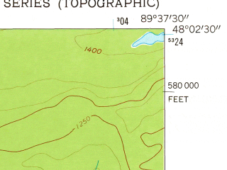 Reduced fragment of topographic map en--usgs--024k--017990--(1959)--N048-02-30_W089-45-00--N047-55-00_W089-37-30