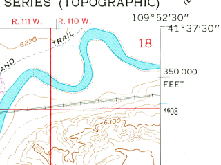 Reduced fragment of topographic map en--usgs--024k--018045--(1961)--N041-37-30_W110-00-00--N041-30-00_W109-52-30; towns and cities Granger