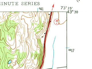 Reduced fragment of topographic map en--usgs--024k--018126--(1944)--N043-30-00_W073-22-30--N043-22-30_W073-15-00; towns and cities Granville