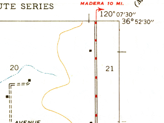Reduced fragment of topographic map en--usgs--024k--018212--(1947)--N036-52-30_W120-15-00--N036-45-00_W120-07-30