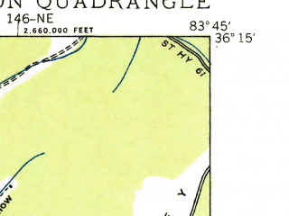 Reduced fragment of topographic map en--usgs--024k--018217--(1935)--N036-15-00_W083-52-30--N036-07-30_W083-45-00; towns and cities Maynardville
