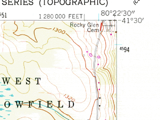 Reduced fragment of topographic map en--usgs--024k--018474--(1958)--N041-30-00_W080-30-00--N041-22-30_W080-22-30; towns and cities Greenville, Jamestown