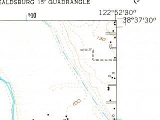 Reduced fragment of topographic map en--usgs--024k--018704--(1955)--N038-37-30_W123-00-00--N038-30-00_W122-52-30; towns and cities Guerneville