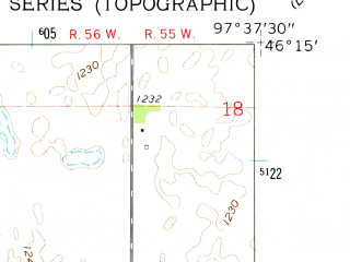 Reduced fragment of topographic map en--usgs--024k--018814--(1962)--N046-15-00_W097-45-00--N046-07-30_W097-37-30; towns and cities Gwinner