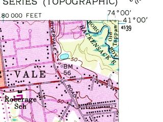 Reduced fragment of topographic map en--usgs--024k--018855--(1955)--N041-00-00_W074-07-30--N040-52-30_W074-00-00; towns and cities Paramus, Ridgewood, Fair Lawn, Elmwood Park, River Edge