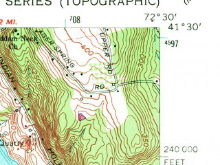 Reduced fragment of topographic map en--usgs--024k--018867--(1961)--N041-30-00_W072-37-30--N041-22-30_W072-30-00; towns and cities Higganum