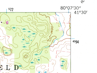 Reduced fragment of topographic map en--usgs--024k--018875--(1960)--N041-30-00_W080-15-00--N041-22-30_W080-07-30; towns and cities Sheakleyville