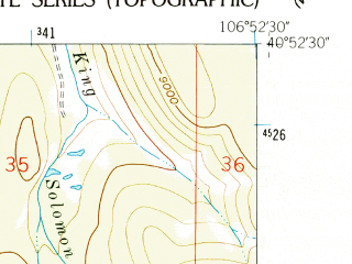 Reduced fragment of topographic map en--usgs--024k--018916--(1962)--N040-52-30_W107-00-00--N040-45-00_W106-52-30 in area of Steamboat Reservoir