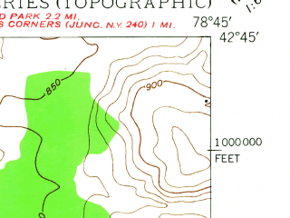 Reduced fragment of topographic map en--usgs--024k--019048--(1948)--N042-45-00_W078-52-30--N042-37-30_W078-45-00; towns and cities Hamburg, North Boston
