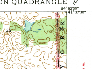 Reduced fragment of topographic map en--usgs--024k--019066--(1939)--N041-37-30_W085-00-00--N041-30-00_W084-52-30; towns and cities Hamilton