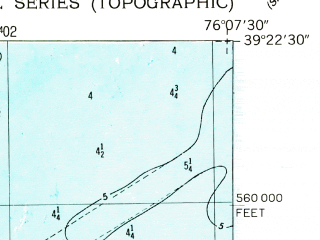 Reduced fragment of topographic map en--usgs--024k--019178--(1948)--N039-22-30_W076-15-00--N039-15-00_W076-07-30