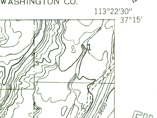 Reduced fragment of topographic map en--usgs--024k--019453--(1954)--N037-15-00_W113-30-00--N037-07-30_W113-22-30; towns and cities Washington