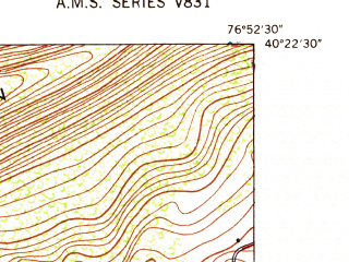 Reduced fragment of topographic map en--usgs--024k--019455--(1947)--N040-22-30_W077-00-00--N040-15-00_W076-52-30; towns and cities Harrisburg, Enola, Dauphin, Marysville, West Fairview