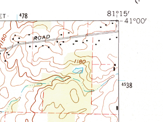 Reduced fragment of topographic map en--usgs--024k--019553--(1960)--N041-00-00_W081-22-30--N040-52-30_W081-15-00; towns and cities Hartville