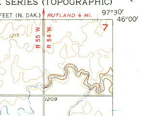 Reduced fragment of topographic map en--usgs--024k--019679--(1956)--N046-00-00_W097-37-30--N045-52-30_W097-30-00; towns and cities Havana
