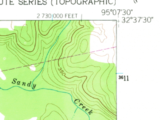 Reduced fragment of topographic map en--usgs--024k--019714--(1960)--N032-37-30_W095-15-00--N032-30-00_W095-07-30; towns and cities Hawkins