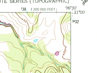 Reduced fragment of topographic map en--usgs--024k--019912--(1961)--N031-00-00_W096-37-30--N030-52-30_W096-30-00; towns and cities Hearne