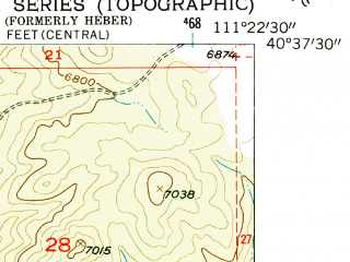 Reduced fragment of topographic map en--usgs--024k--019947--(1955)--N040-37-30_W111-30-00--N040-30-00_W111-22-30; towns and cities Heber, Midway