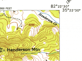 Reduced fragment of topographic map en--usgs--024k--020093--(1946)--N035-22-30_W082-30-00--N035-15-00_W082-22-30; towns and cities Hendersonville, Balfour, Barker Heights, East Flat Rock