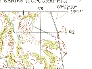 Reduced fragment of topographic map en--usgs--024k--020126--(1955)--N036-15-00_W088-30-00--N036-07-30_W088-22-30; towns and cities Henry