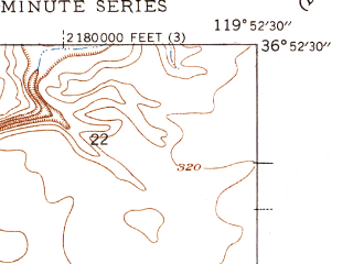 Reduced fragment of topographic map en--usgs--024k--020212--(1947)--N036-52-30_W120-00-00--N036-45-00_W119-52-30