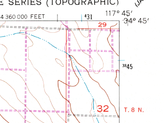 Reduced fragment of topographic map en--usgs--024k--020270--(1957)--N034-45-00_W117-52-30--N034-37-30_W117-45-00