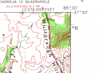 Reduced fragment of topographic map en--usgs--024k--020282--(1961)--N037-30-00_W085-37-30--N037-22-30_W085-30-00