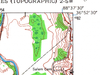 Reduced fragment of topographic map en--usgs--024k--020301--(1951)--N036-52-30_W088-45-00--N036-45-00_W088-37-30