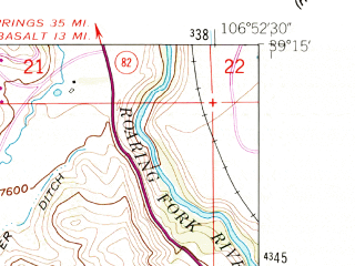 Reduced fragment of topographic map en--usgs--024k--020396--(1960)--N039-15-00_W107-00-00--N039-07-30_W106-52-30; towns and cities Snowmass Village