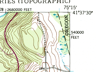 Reduced fragment of topographic map en--usgs--024k--020883--(1946)--N041-37-30_W075-22-30--N041-30-00_W075-15-00; towns and cities Bethany, Honesdale, Prompton
