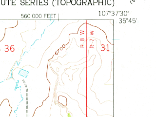 Reduced fragment of topographic map en--usgs--024k--021174--(1961)--N035-45-00_W107-45-00--N035-37-30_W107-37-30