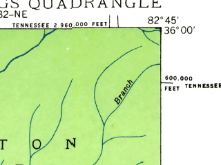 Reduced fragment of topographic map en--usgs--024k--021186--(1935)--N036-00-00_W082-52-30--N035-52-30_W082-45-00; towns and cities Hot Springs