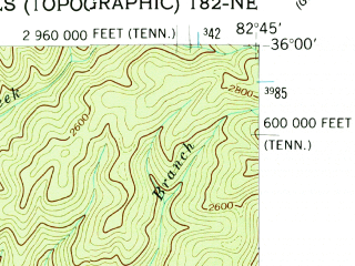 Reduced fragment of topographic map en--usgs--024k--021186--(1940)--N036-00-00_W082-52-30--N035-52-30_W082-45-00; towns and cities Hot Springs