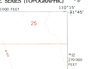 Reduced fragment of topographic map en--usgs--024k--021314--(1958)--N031-45-00_W110-22-30--N031-37-30_W110-15-00; towns and cities Huachuca City, Whetstone