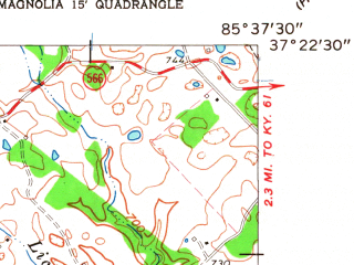 Reduced fragment of topographic map en--usgs--024k--021355--(1961)--N037-22-30_W085-45-00--N037-15-00_W085-37-30