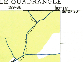 Reduced fragment of topographic map en--usgs--024k--021490--(1935)--N036-07-30_W082-22-30--N036-00-00_W082-15-00