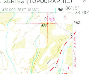 Reduced fragment of topographic map en--usgs--024k--021624--(1958)--N034-00-00_W086-22-30--N033-52-30_W086-15-00